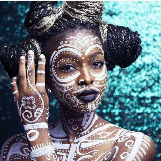 Tribal Art maquillage
